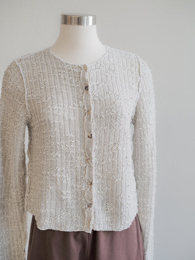 Cut Loose Clothing Crop Cardigan Texture Sweater