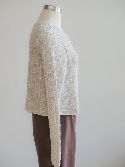Cut Loose Crop Cardigan Texture Sweater