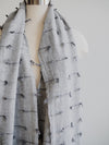 V. Fraas Grey Knot Wool Scarf