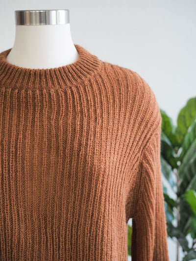 Wooden Ships Sara Crop Rib Sweater