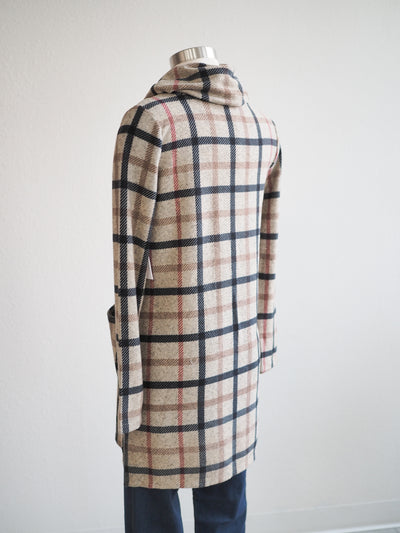 Tribal Plaid Cowl Neck Tunic Dress