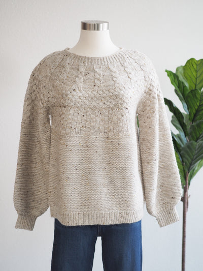 Tribal Birch Cable Knit Women's Sweater