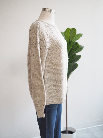 Tribal Birch Cable Knit Sweater