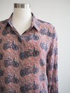 APNY Bicycle Print Blouse