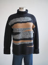 Tribal Camo Intarsia Soft Pullover Sweater