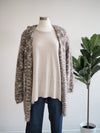 M. Rena Beige Long Sleeve High Low Sweater