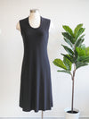 Last Tango Sleeveless Black Dress W/ Back Seam