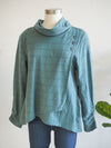 Habitat Surplice Cowl Neck Pullover in Forest