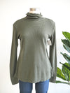 Cut Loose Olive Thermal Turtleneck