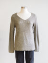 Tribal Mitered V-neck Moonstone Sweater
