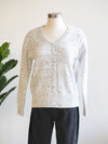 Tribal V Neck Cream Sweater