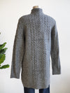 Apricot Cable Grey Knit Dress