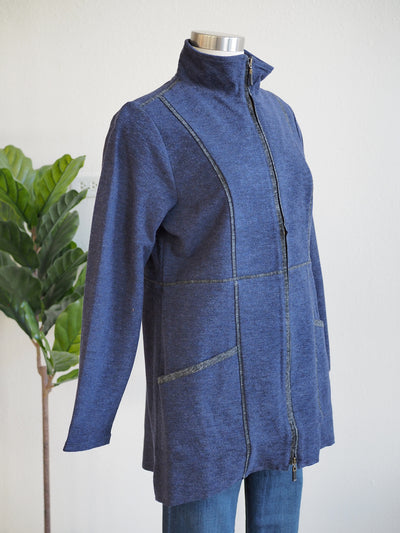Habitat Double Sided Fleece Denim Coat