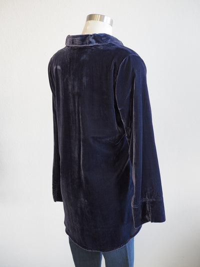 Habitat Velvet Indigo Shaped Shirt