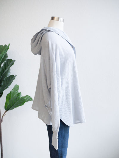 Before You Hooded LS Gauze Top