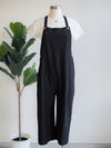 Before You Cotton Culotte Black Overalls