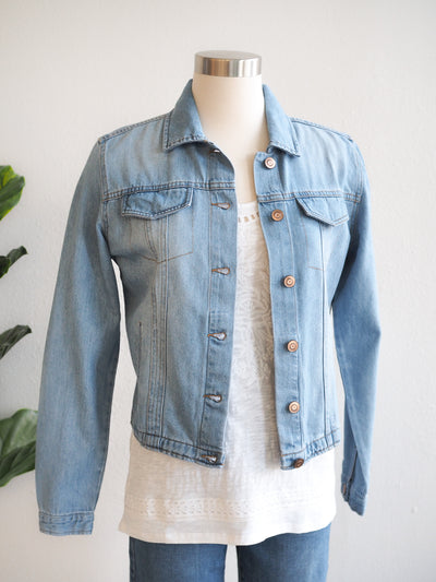 Tribal Soft Chambray Denim Jean Jacket