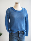 Tribal Open Stitch Malibu Blue Sweater