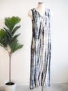 Tribal Sleeveless Blue Haze Tie Dye Maxi Dress