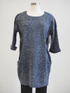 Papillion Navy Boucle Midi Sweater Dress