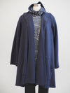 Cut Loose Navy Crimped Swing Coat