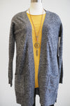 Tribal Cashmere Grey Cardigan Sweater