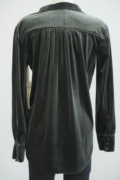 Tribal Loose Fit Velvet Shirt