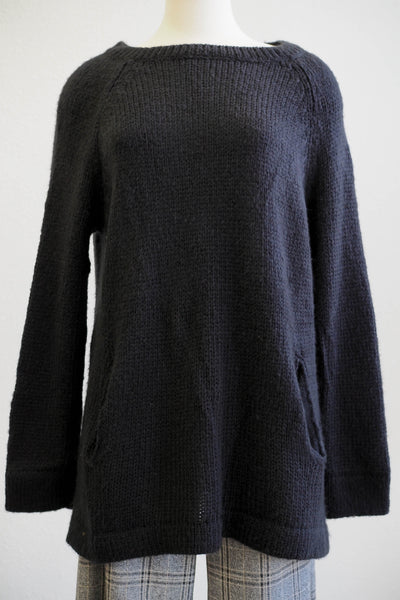 Wooden Ships Whitney Black Pocket Tunic w/2 Front Pockets - Women's Clothing