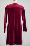Tribal Red Velvet Long Sleeve Pocket Dress