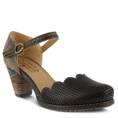 L'Artiste Parchelle Black Multi Leather Shoe