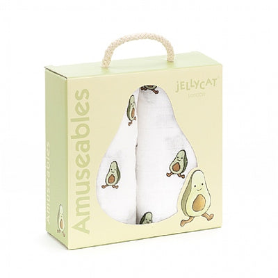 Jellycat Amuseable Pair of Muslin Blankets