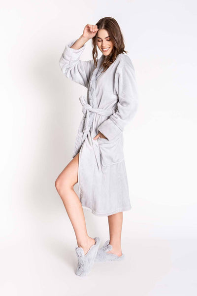 PJ Salvage Luxe Light Grey Robe