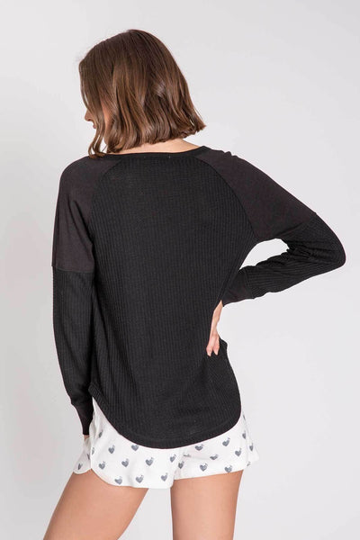 PJ Salvage L/S Thermal Top Basic Black