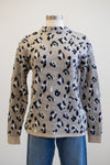 Tribal Crew Neck Leopard Sweater