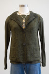 Cut Loose Gris Green Boiled Wool Pocket Vest
