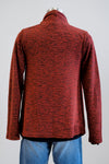 Cut Loose Cognac Red Draped Cardigan (Large)