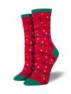 Socksmith Christmas Lights - Red, Women's Socks