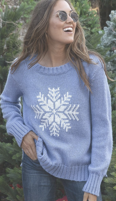 Wooden Ships Snowy Wish Sweater