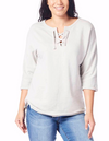 JAG Debbie Lace Up Sweater Top