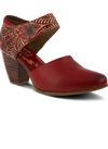 L'Artiste Toolie Mary Jane Slip-Ons in Red