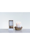 Unscented Short Taper Candles in Box