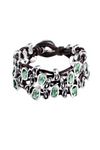 Uno de 50 Sweet Danger Green Crystal Bracelet