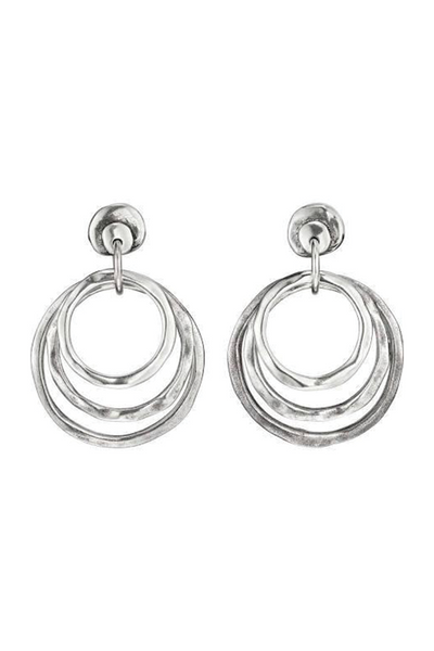 Uno de 50 HIPSTER Silver Hoop Earrings