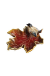 Stoneware Maple Leaf & Bird Dish