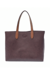 Joy Susan New Mariah Medium Convertible Tote Eggplant - Coffee