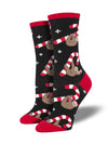 Socksmith Merry Slothmas - Black, Women's Socks