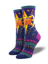 Socksmith Sun and Moon - Purple, Women's Socks