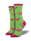 Sock Smith Flamingo Lime Socks