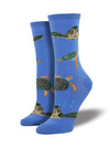 Sea Turtles-Periwinkle Socks
