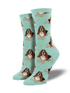 Sock Smith Nothing But A Hound Dog, Mint Heather